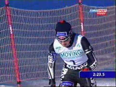 Semi finals World Cup sprint Asiago 2001 Milaine Theriault and Beckie Scott