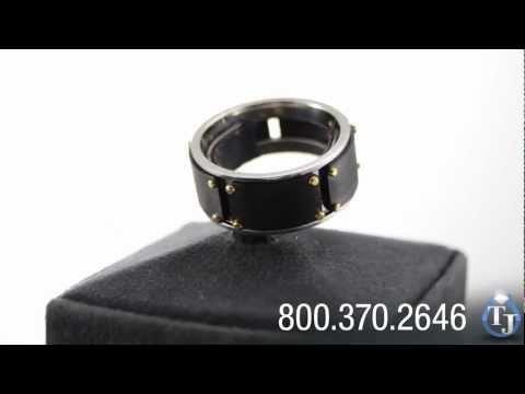 Cobalt Chrome Ring with Black Zirconium by Heavy Stone Rings, WILLIAMS BLACK 10mm