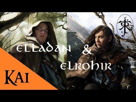 La historia de Elladan y Elrohir