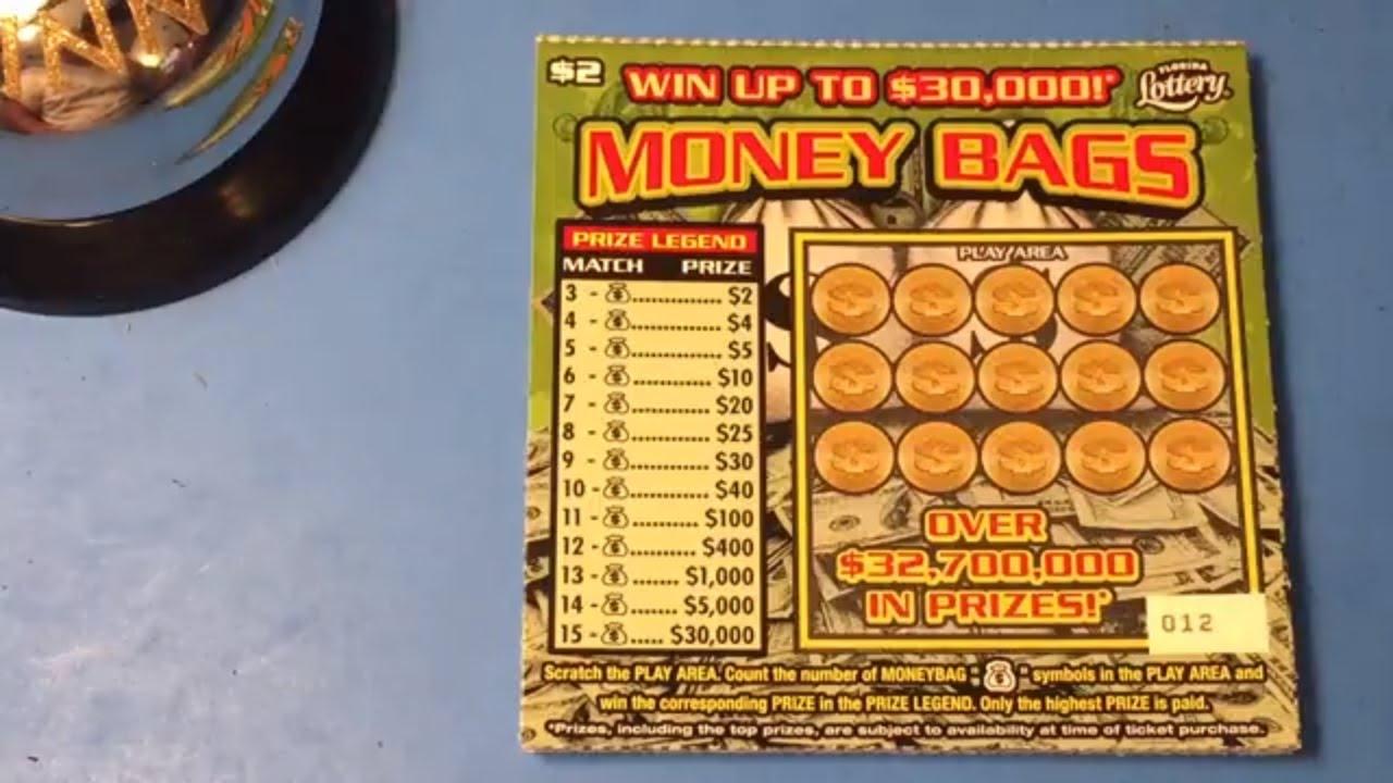 Florida Lottery Scratch Offs - $2 Money Bags
