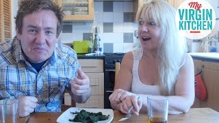 EATING STINGING NETTLES WITH MY MUM