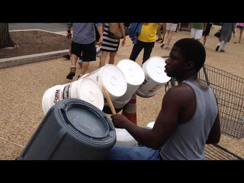 Bucket Drumming | Street Art Performance Washington DC