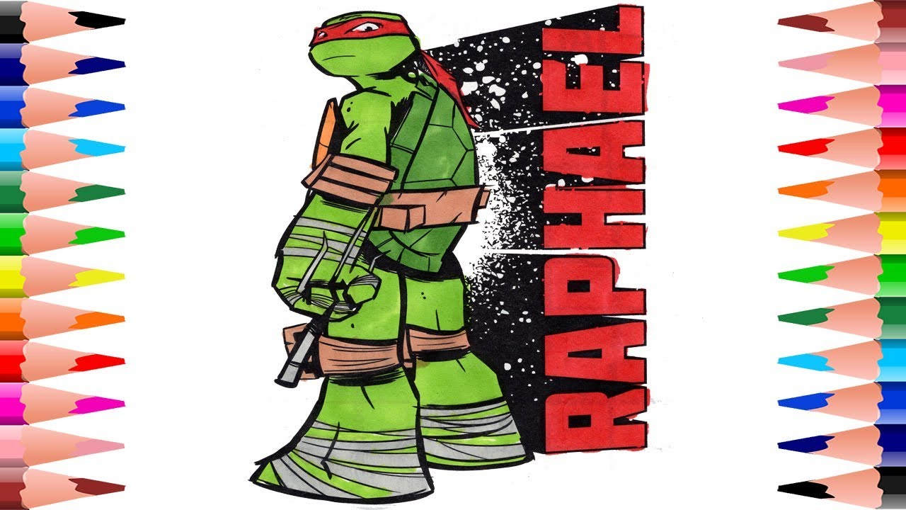 Coloring Raphael Teenage Mutant Ninja Turtles Coloring Pages for ...