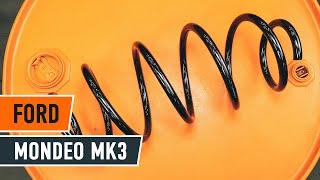 Hoe een spiraalveer vooraan vervangen op een FORD MONDEO MK3 Sedan [HANDLEIDING AUTODOC]