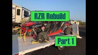 2018 Polaris RZR 4 Dynamix crash and rebuild project Pt 1
