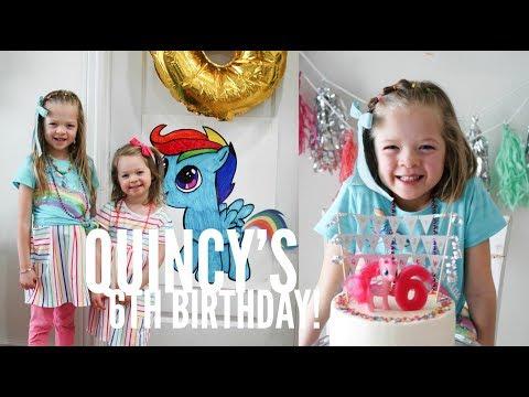 Quincy's 6th Birthday: Rainbow My Little Pony Party | Wood Family Vlog | Eposide 2