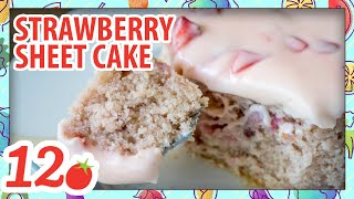 How to Make: Strawberry Frosted Strawberry Sheet Cake