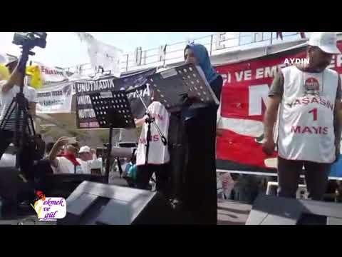 Aydın'da SİBAŞ işçileri 1 Mayıs kürsüsünde