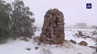 مشاهد من الثلوج في الهيشة والشوبك