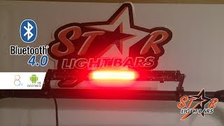 Youtube star light bars m1 bluetooth led rear chase light mozeypictures Choice Image