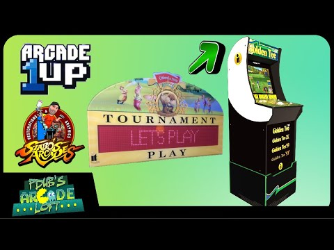 Arcade1Up Golden Tee Acrylic Topper by Szabos Arcades! from PDubs Arcade Loft