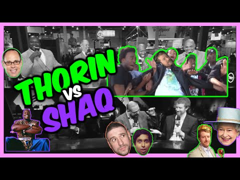 A Thorin vs. Shaq edit with proper reactions