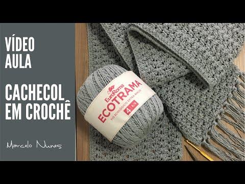 Cachecol em Crochê - por Marcelo Nunes
