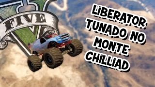 GTA V – Liberator TUNADO pulando do Mt. Chilliad com MOD
