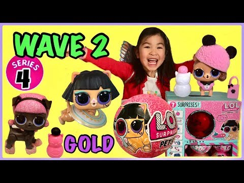 LOL Surprise SERIES 4 WAVE 2 PETS Unboxing | GOLD Found | Madame Pup Ancient Meow | Special Surprise