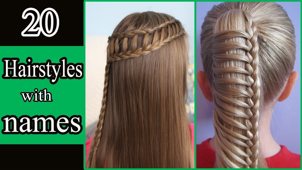 20 Hairstyles With Names For Girls || 20 Types Of Hairstyles || Names Of Hairstyles - YouTube