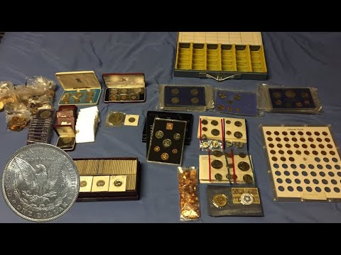 Large Coin Haul From Garage Sale