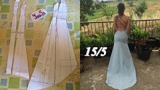 CROCHET IRLANDES- Vestido de novia Tutorial 15/5 Modificaciones Patron trasero y Falda Trasera