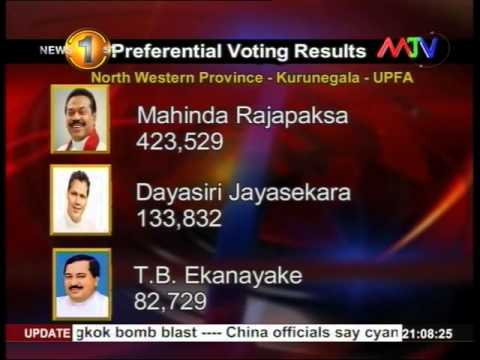 News1st Preferential votes of General Election 2015 released