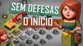 INICIANDO UMA VILA SEM DEFESAS #1   PRIMEIROS PASSOS DE UMA NO DEFENSE NO CLASH OF CLANS