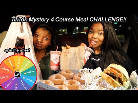 4 Course Meal Challenge!! (tiktok) *hair in my food*   VLOGMAS 2020