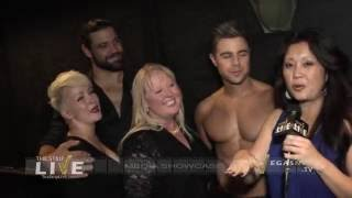 THUNDER FROM DOWN UNDER Backstage | with Adryenn Ashley and Shelby Hagensmith | Excalibur Las Vegas