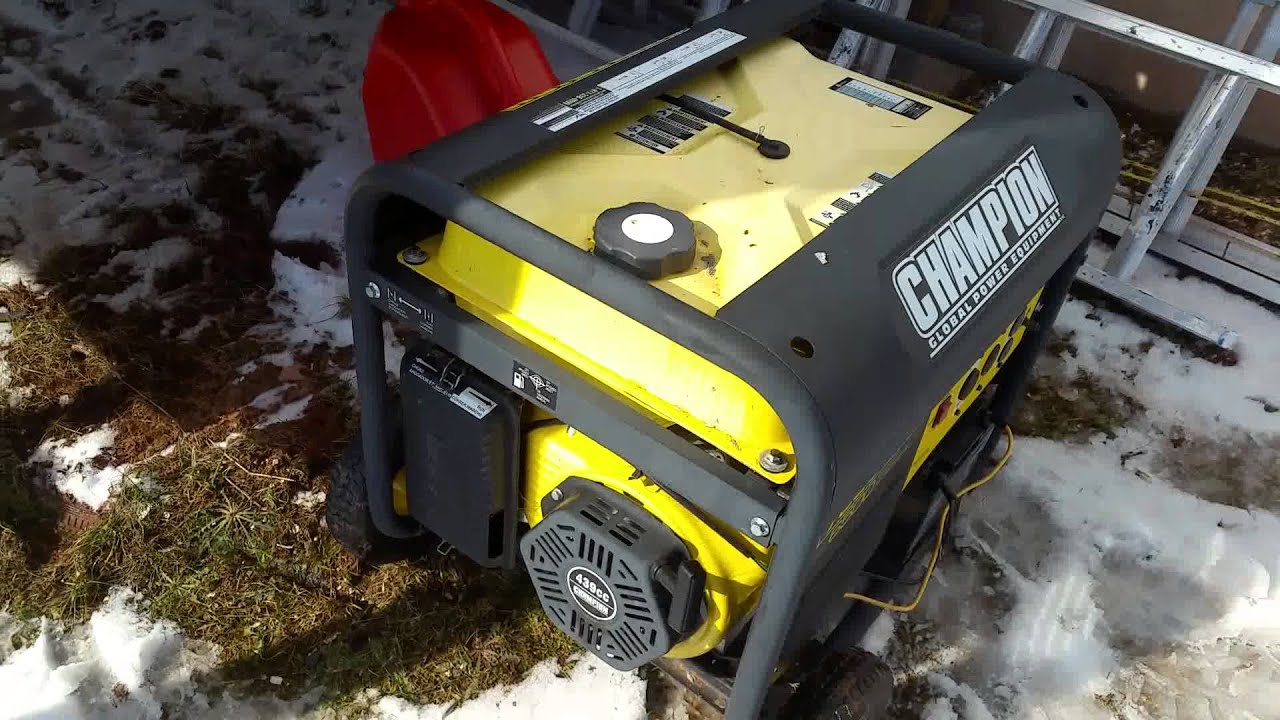 Champion 6500W Gas Generator For Sale