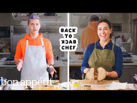 Ninja Tries to Keep Up with a Professional Chef | Back-to-Back Chef | Bon Appétit