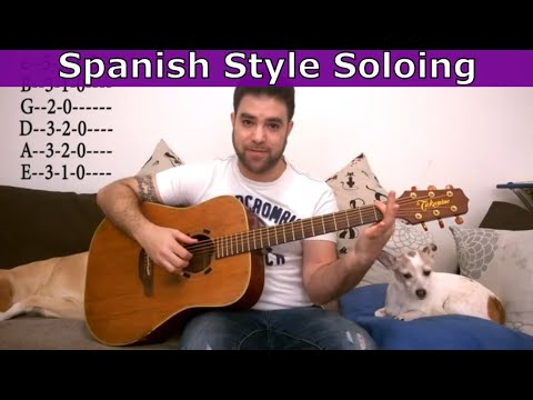 8 Simple Concepts For Spanish-Style Soloing & Improvisation - Guitar Lesson Tutorial w/ TAB