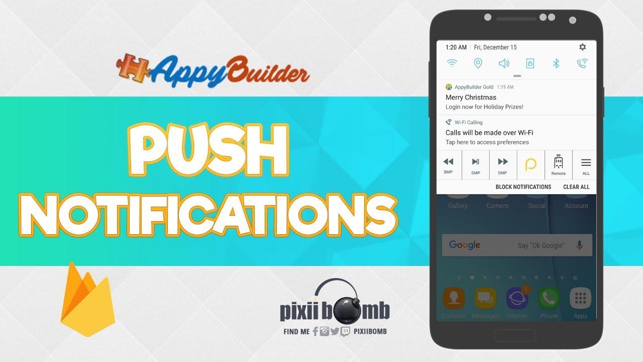 AppyBuilder: Push Notifications