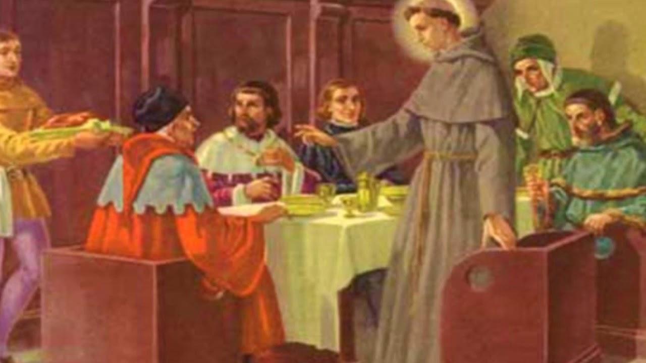 SANTO ANTONIO venceu a morte com sinal da cruz