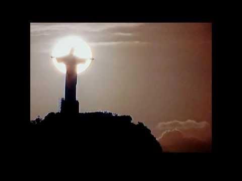 WK2014 Rio Christus Beeld Ondergaande Zon