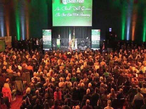 Huge Dáil 100 rally in Mansion House, Dublin