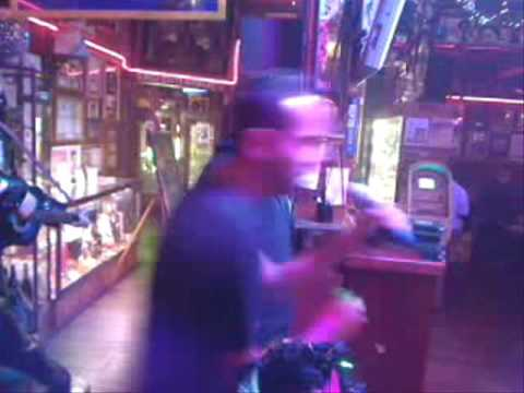 Myself and my friend Ismael doing Karaoke @ Azteca