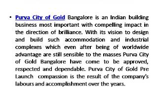 Purva City of Gold Kanakapura Road Bangalore