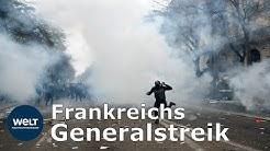 GENERALSTREIK: Frankreich protestiert gegen Macrons Rentenreform