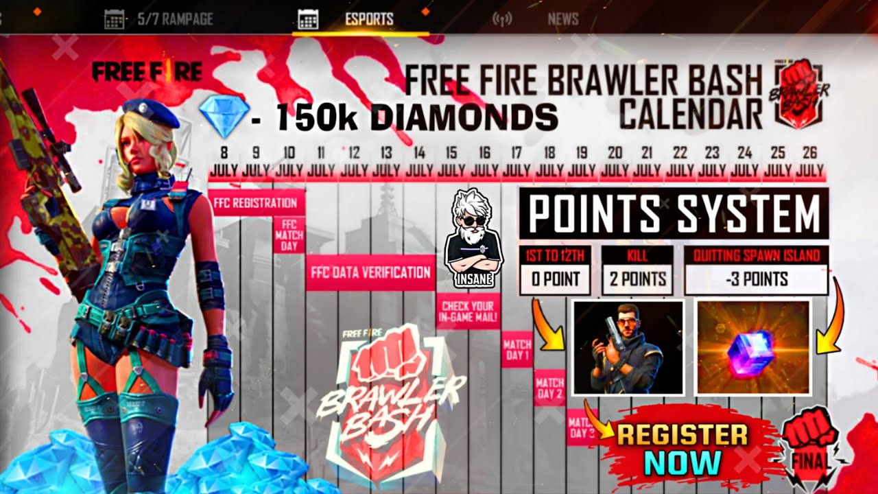 FreeFire New Brawler Bash Event 🔥 - How to Join ?! Win Upto 150k Diamond 😳 - Full Details.