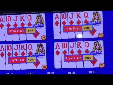 ROYAL FLUSH DEALT!! CAN YOU BELIEVE THIS!!! Again