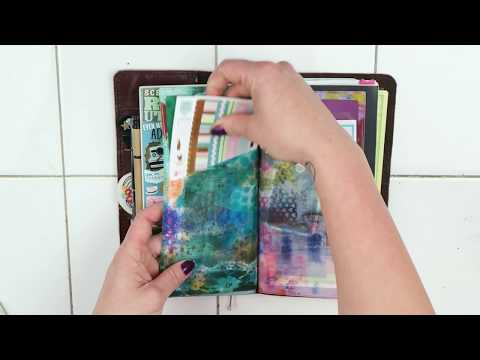 2017 Travelers Notebook Set-Up [food log, planner, creative journal]