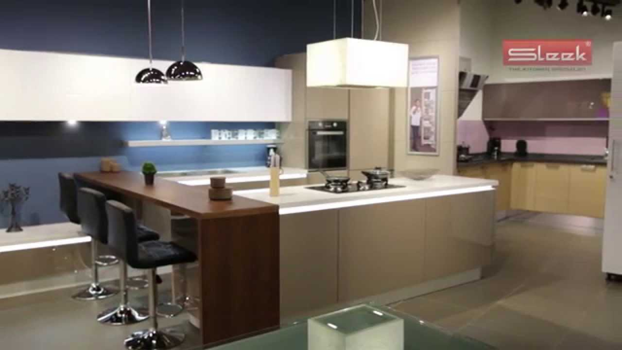 Sleek Modular Kitchens - YouTube