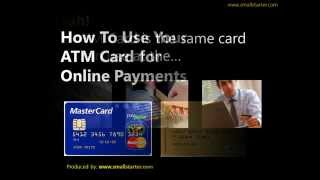 how to use your atm card for online payments