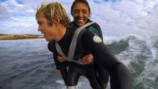 Duct Tape Surfing -  Dream came true for Paraplegic Mum