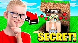 I FOUND MY SISTER'S BOYFRIEND'S SECRET WORLD in Minecraft!