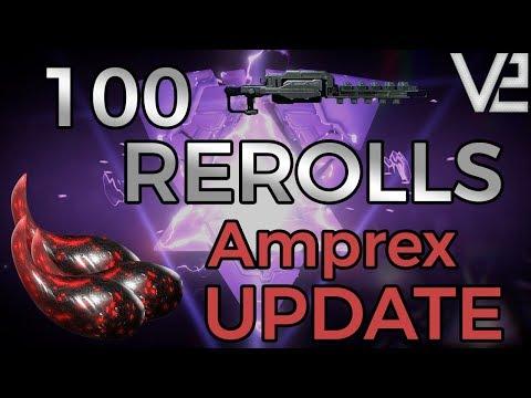 Warframe - 100 Rerolls: Amprex Riven Update! thumbnail