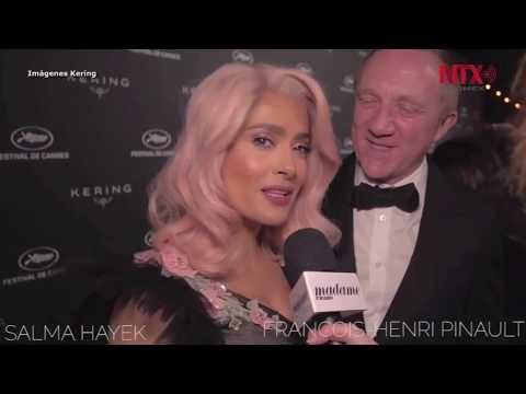 "Salma Hayek  ""conmociona""  Cannes con cabello rosa"