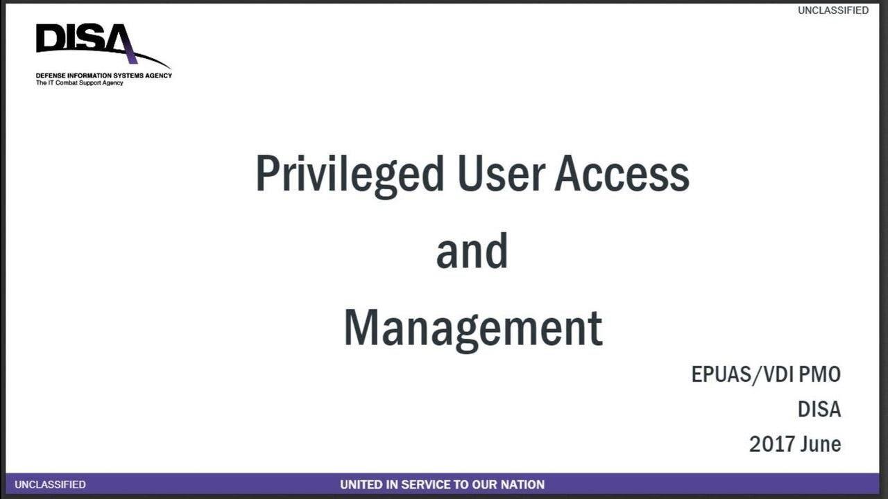 Enterprise Privileged User Authentication Service (EPUAS) & Virtual Desktop  Infrastructure (VDI)