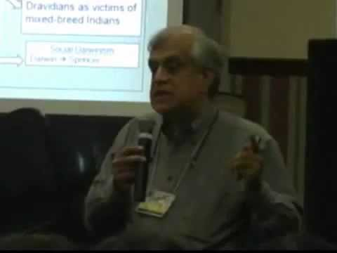 Rajiv Malhotra on European race theory and conversion of Jatis into Castes at Waves 2008 - Vid 4