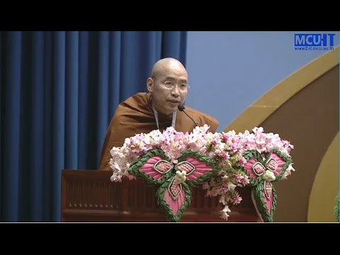 Phra Khammai Dhammasami IABU Secretary conclude the report