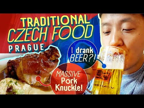 Trying TRADITIONAL CZECH FOOD, MASSIVE Pork Knuckle