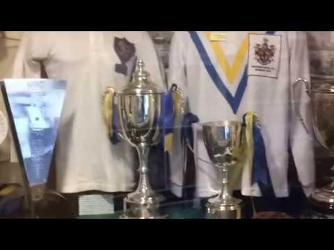 Warrington wolves trophy cabinet at the Halliwell Jones Stadium ...